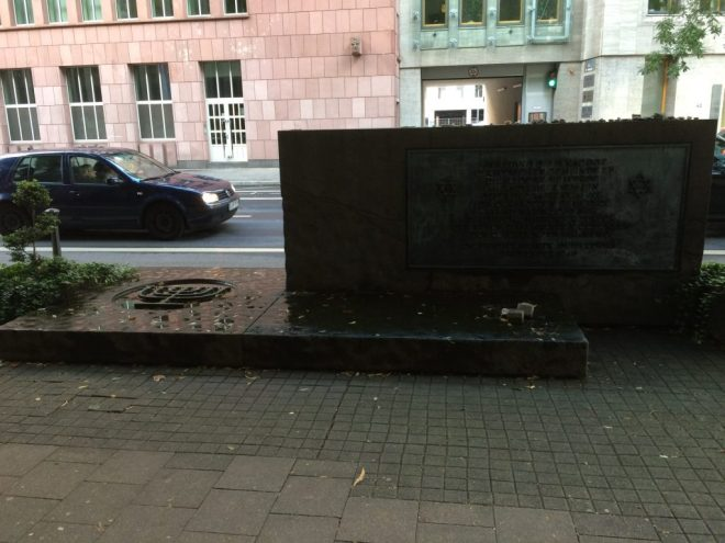 Synagogue memorial, Düsseldorf, 2017