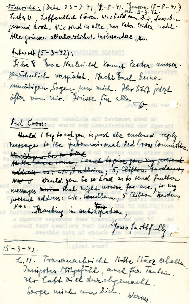 Red Cross messages - 18th February 1942, page two