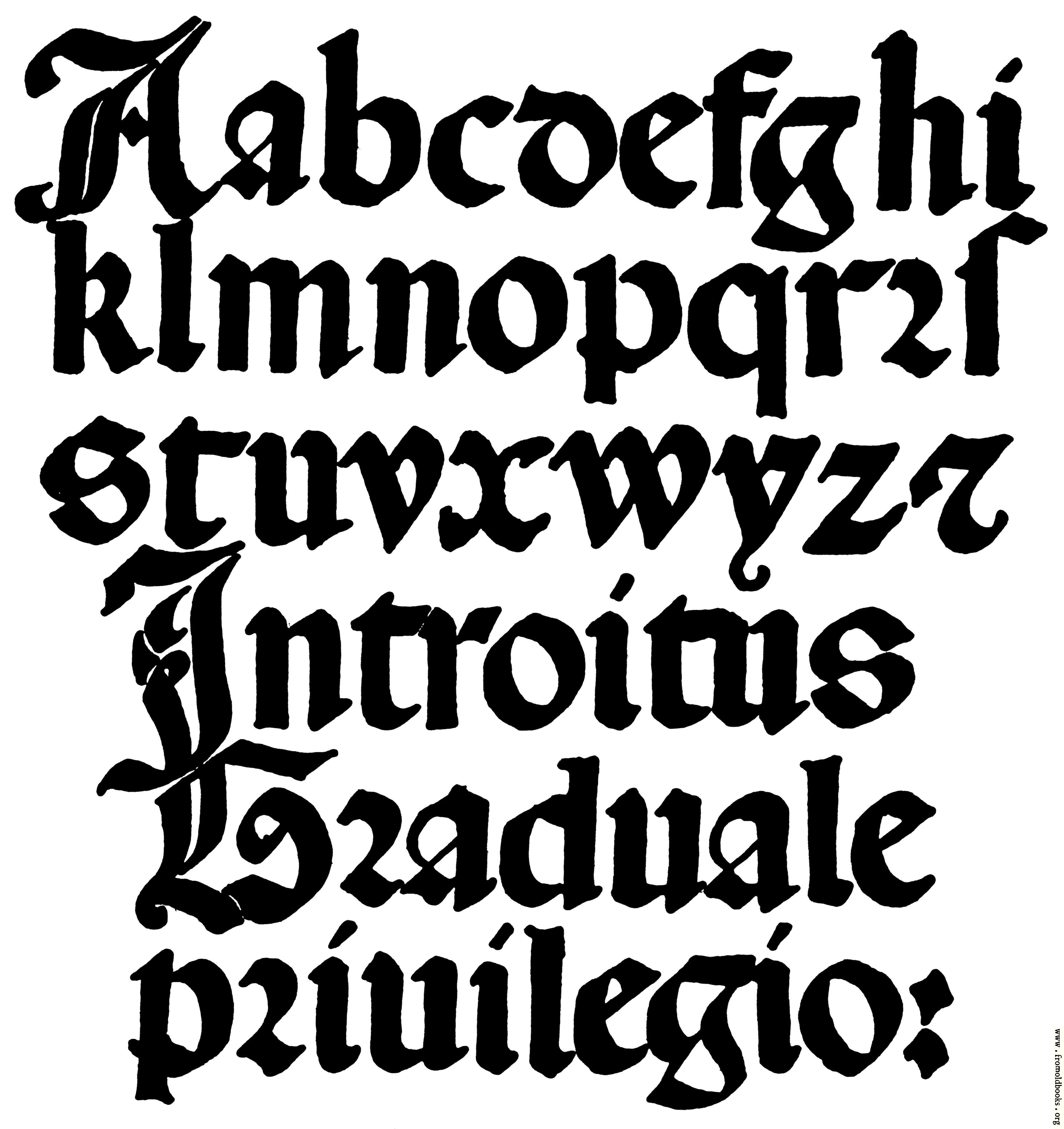 Old English Tattoo Font Generator