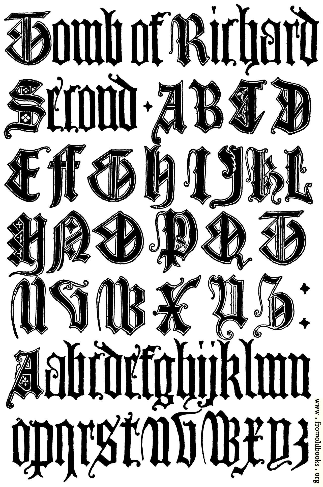 179 English Gothic Letters 15th Century F C B Image