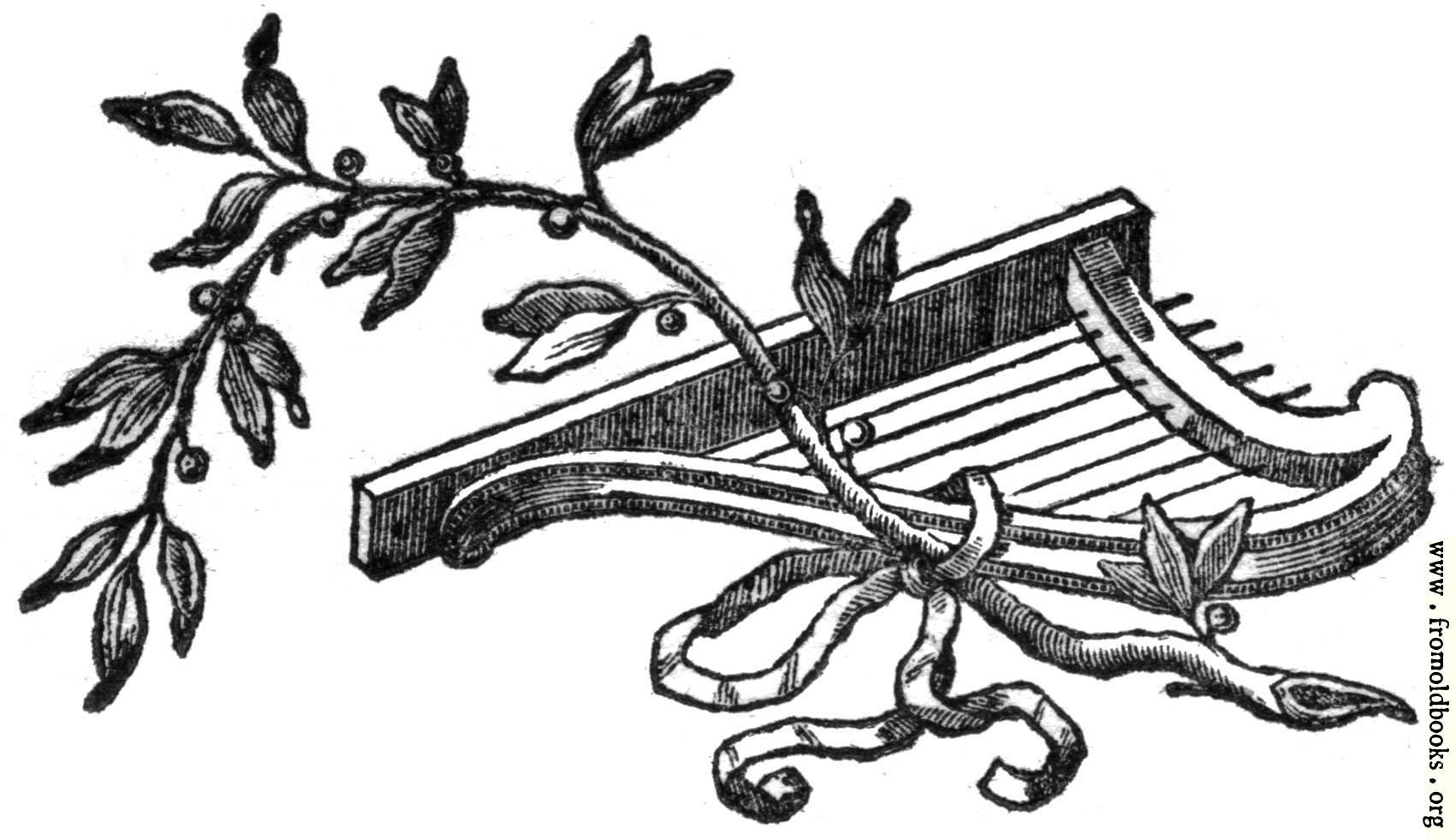 Printer S Ornament With Harp And Vine