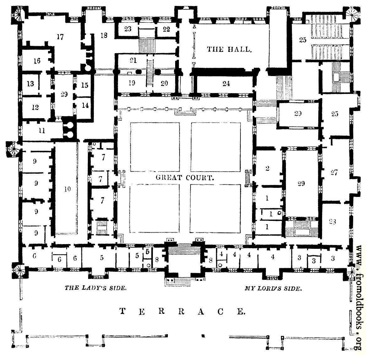 Plan Of Buckhurst House Sus