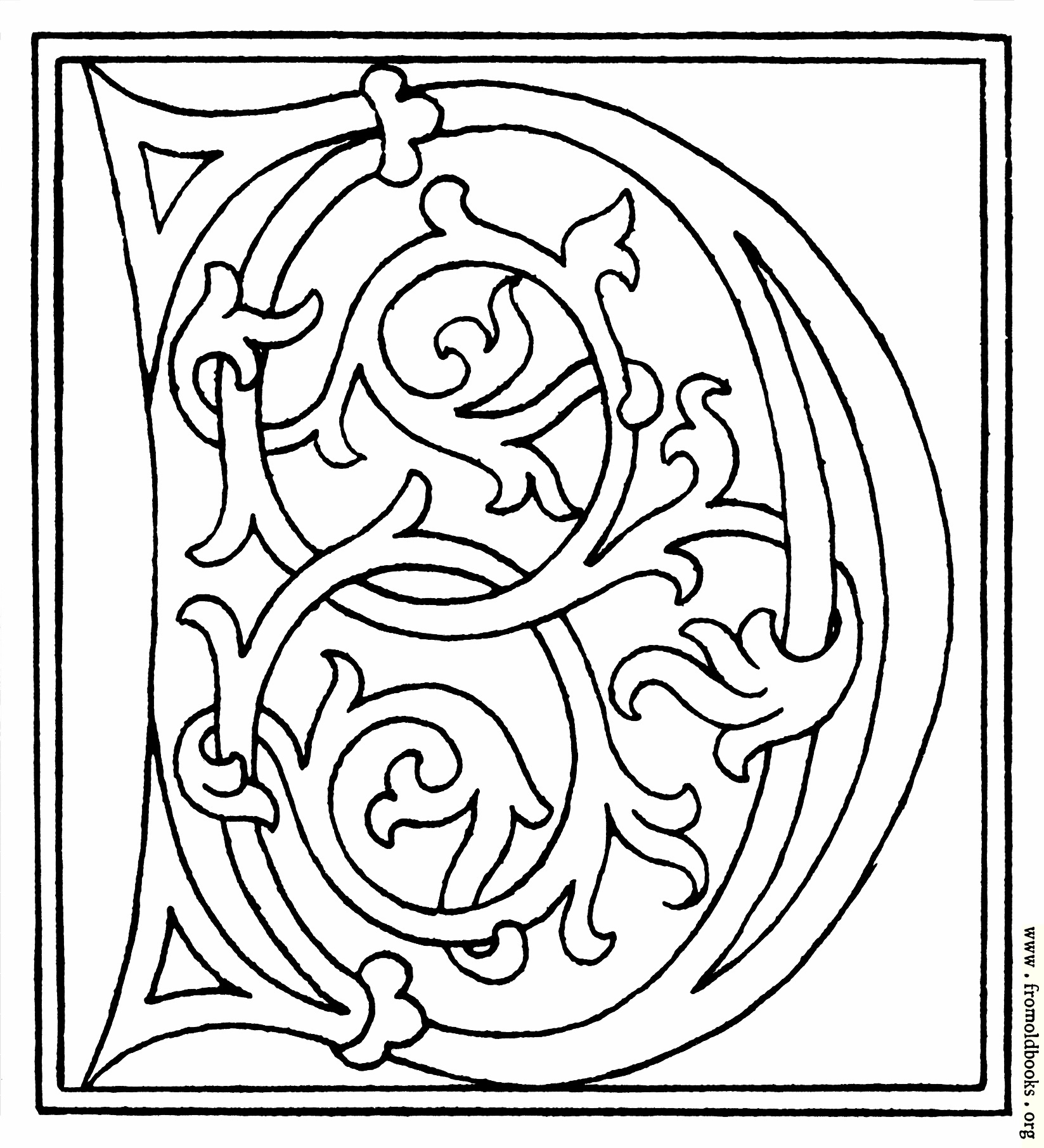 Clipart Initial Letter D From Late 15th Century Printed Book