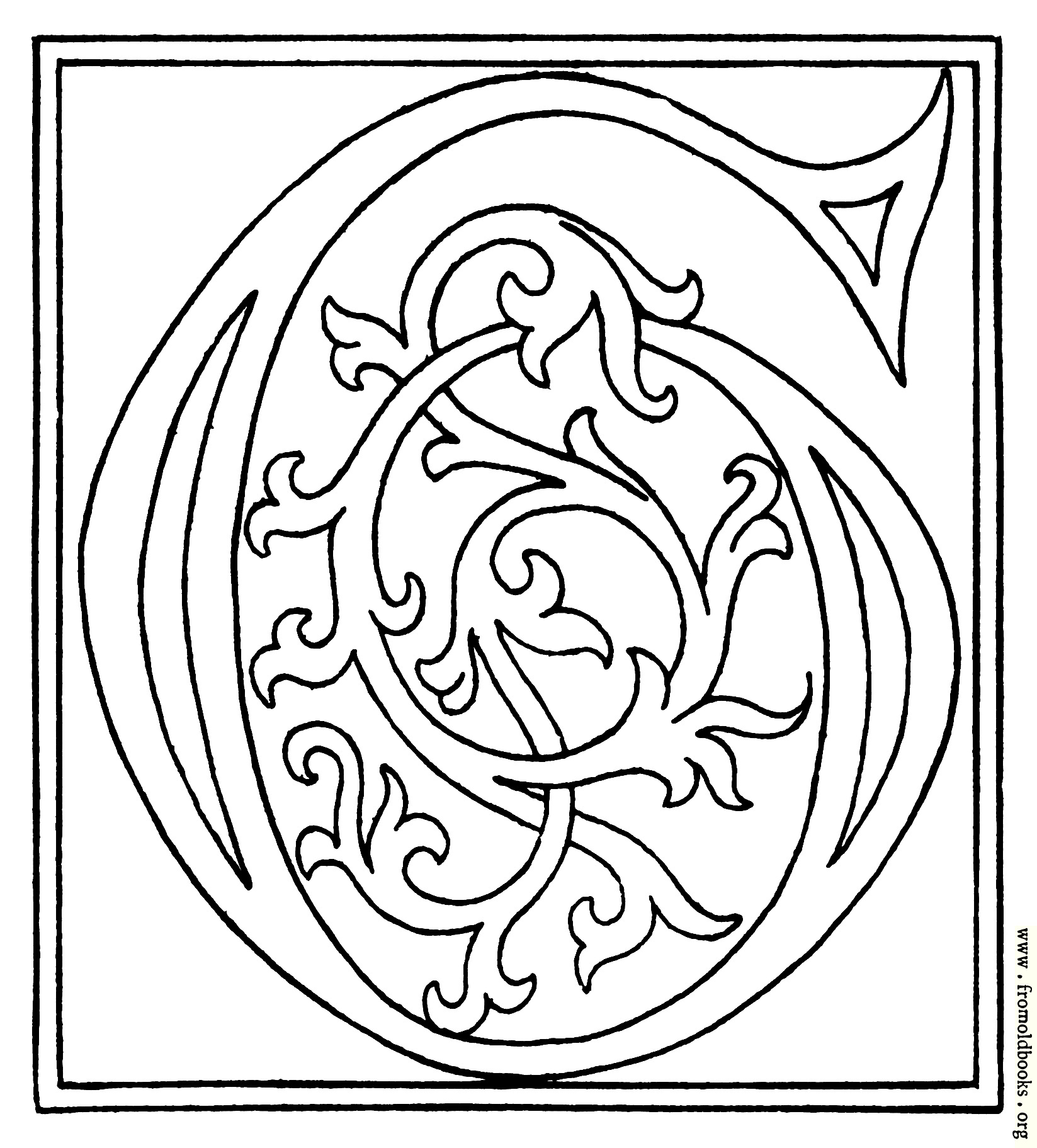 Clipart Initial Letter G From Late 15th Century Printed