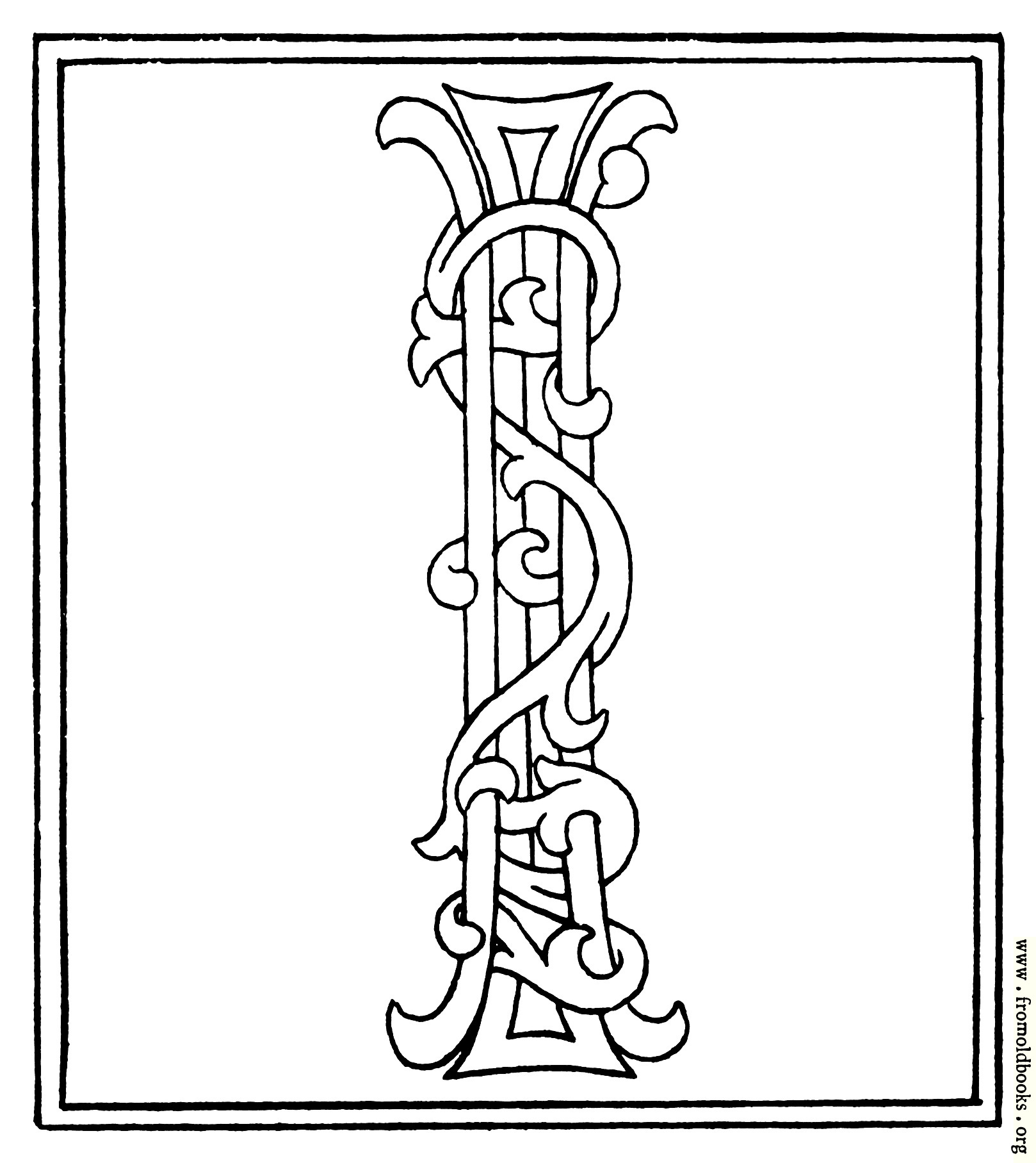 Clipart Initial Letter I From Late 15th Century Printed Book