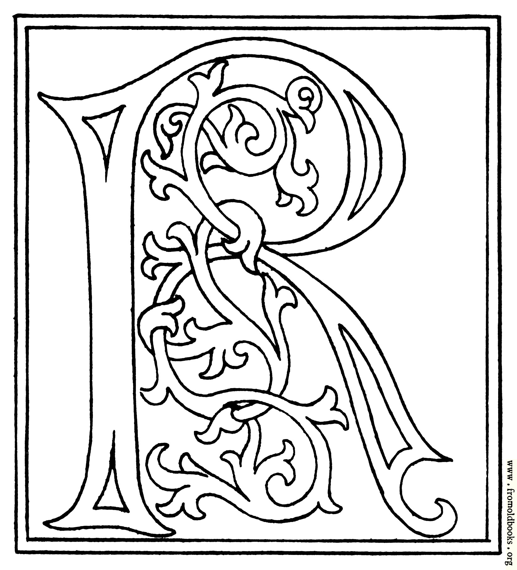 Clipart Initial Letter R From Late 15th Century Printed Book