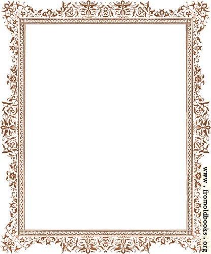 [Picture: Decorative clip-art Victorian border, antique brown]