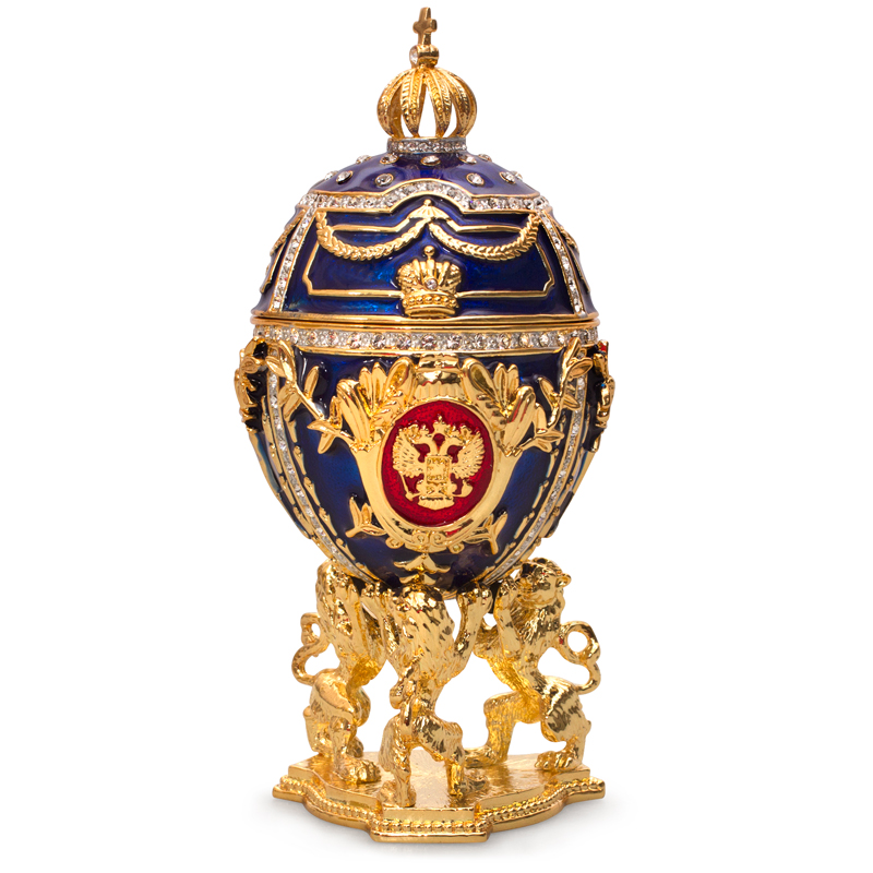 Lions Imperial Musical Egg With Miniature Church Of The