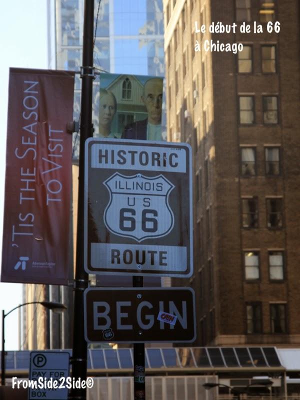 Route 66 Chicago début de la Route