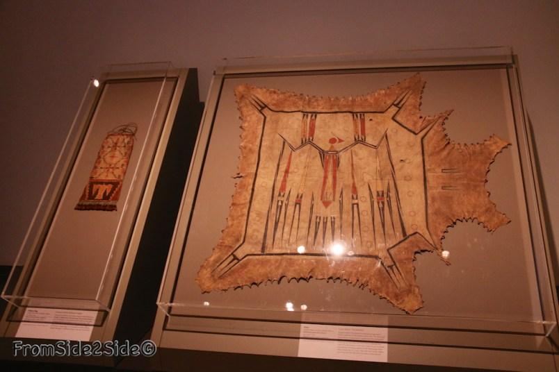 1700-1740 peut-être Illinois : la plus ancienne toile (propriété du Quai Branly)