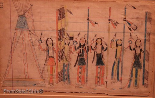 Date inconnue attribué à un artiste Arapaho, Oklahoma
