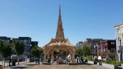 A temple has raised in Hayes