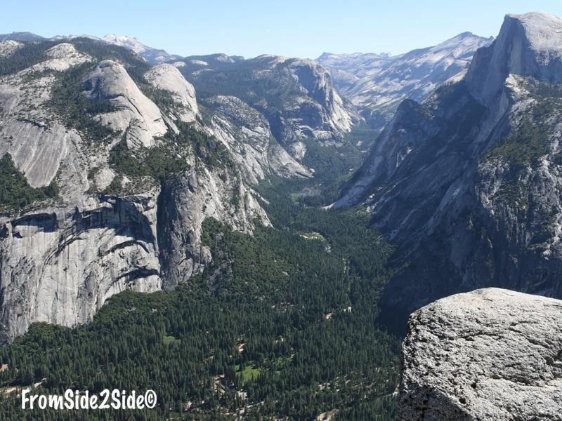 Vue Yosemite vallee