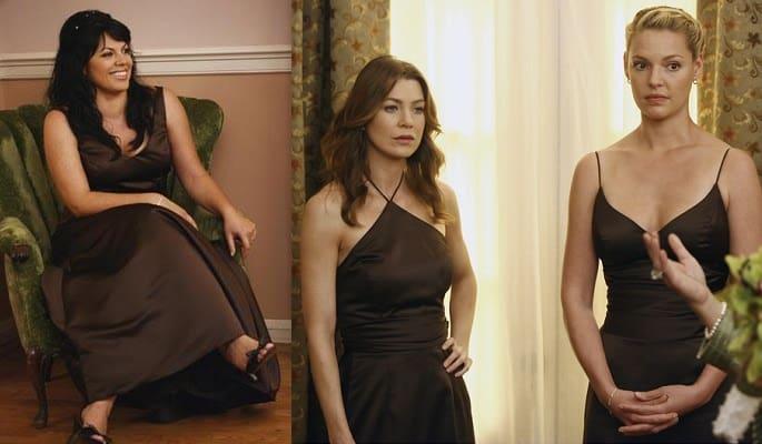 Callie-Meredith-Izzie-Bridesmaid-Cristina-Burke-Wedding-Grey's Anatomy