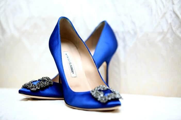 Blue Manolo Blahniks