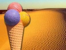 Eating a dessert in the desert