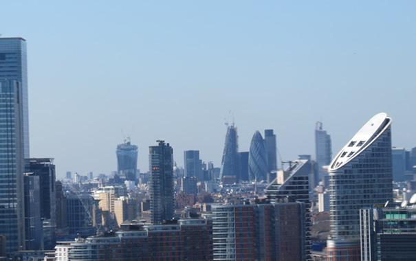 Vistas de la City desde el teleférico de Londres