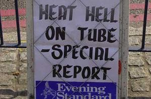 Calor en el metro de Londres