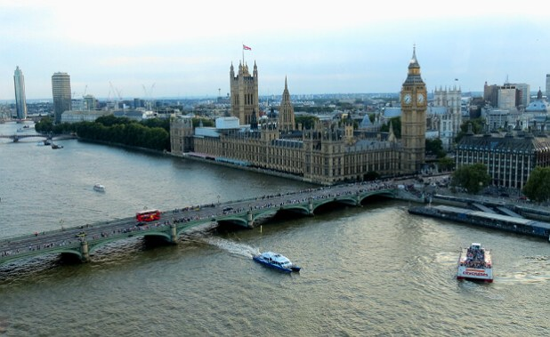 Palacio de Westminster desde el London Eye