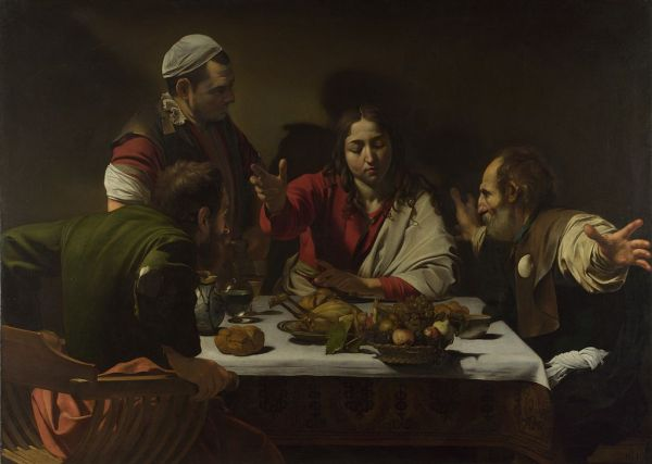 Caravaggio's The Supper at Emmaus - Courtesy of Wikipedia