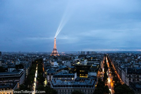 Paris - View of the Eiffel Tower from the Arc de Triomphe