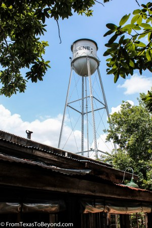 The Gruene Water Tower from the Gristmill