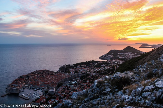 Sunset Over Dubrovnik from Mount Srd