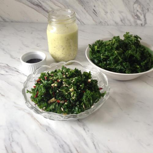 Kale Salad with poppy seed dressing 2