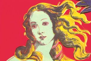 Birth of Venus Red Painting by Andy Warhol; Birth of Venus Red Art Print for sale