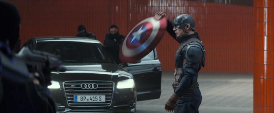 Black Audi S8 in Captain America: Civil War (2016)