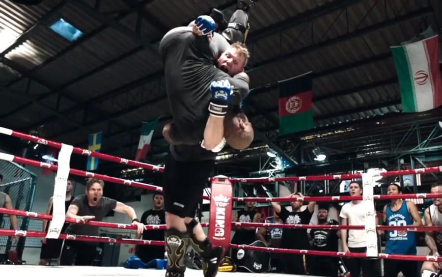 MMA gloves Josh Barnett in Never Back Down: No Surrender (2016)