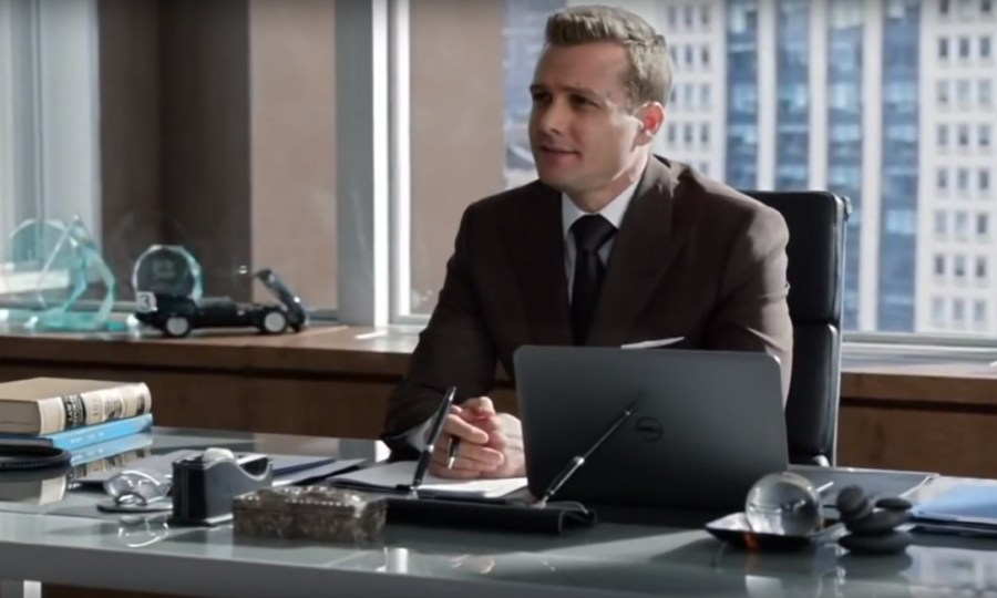 Double Pen Stand on Harvey's desk in Suits