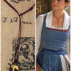 Emma Watson's lariat y necklace in Beauty and the Beast (2017)