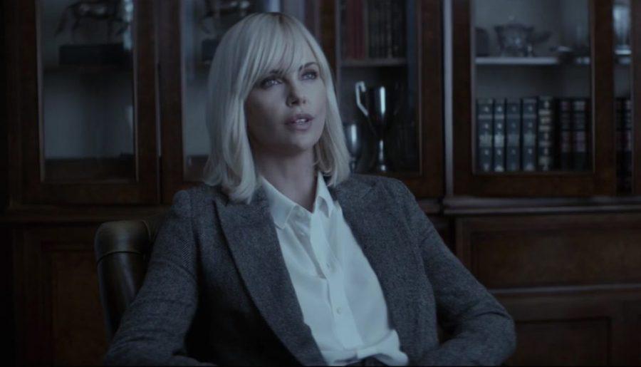 Grey Blazer Charlize Theron in Atomic Blonde (2017)