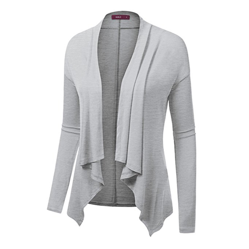 Jennifer Garner's gray draped cardigan in Wakefield (2016)