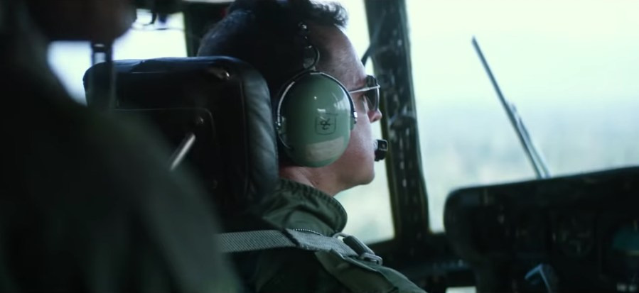 The pilot's headset in Mile 22 (2018)
