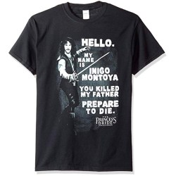 Princess Bride Hello Again Juniors Black T-shirt