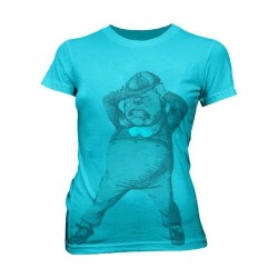 Alice in Wonderland Tweedle Dee Dum Turquoise T-shirt