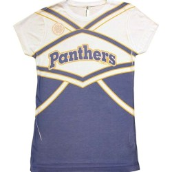 Friday Night Lights Dillon Panthers Cheer Uniform Sublimated Juniors White T-Shirt tee