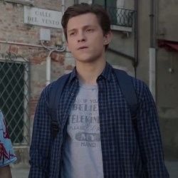 If You Be­lieve in Telekine­sis Please Raise My Hand T-Shirt Tom Holland in Spider-Man: Far From Home (2019)