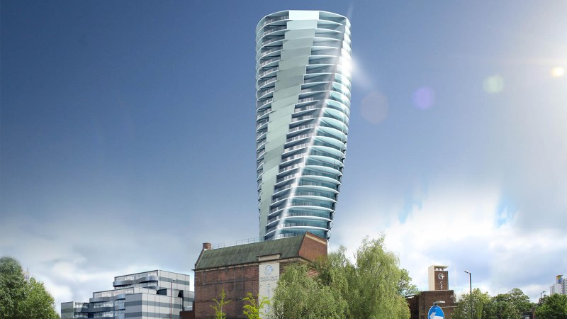 Possible tower designs for Mortgramit Square development in Woolwich