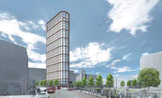 Tower development by Woolwich Tesco in for planning: 27-floors, 800+ homes, no social housing