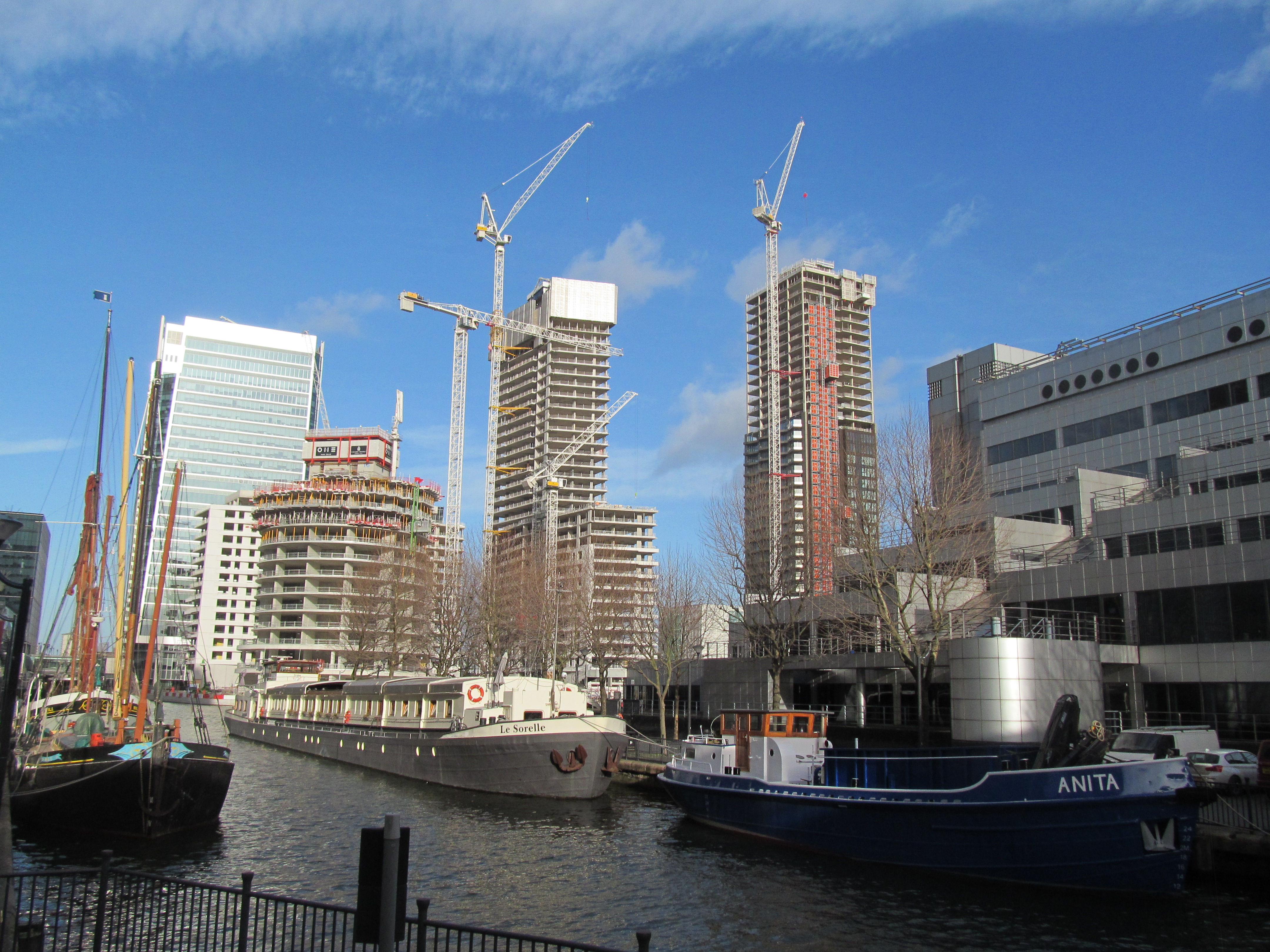 Canary Wharf's rising towers: January update