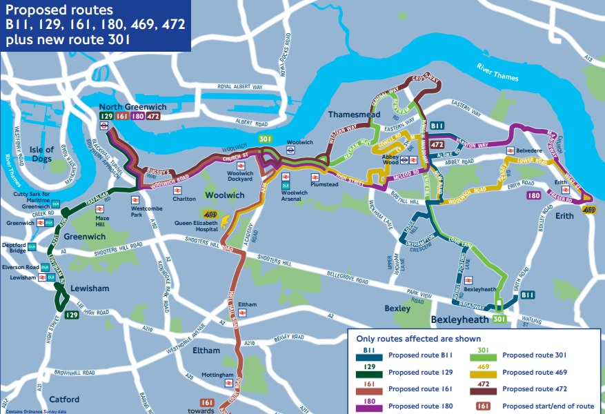 Contract awarded for new bus 301 between Woolwich & Bexleyheath via Thamesmead & Abbey Wood