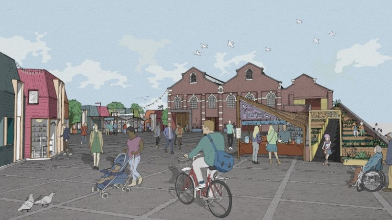 Plumstead power station plans revealed – new market, studio space, nursery and more