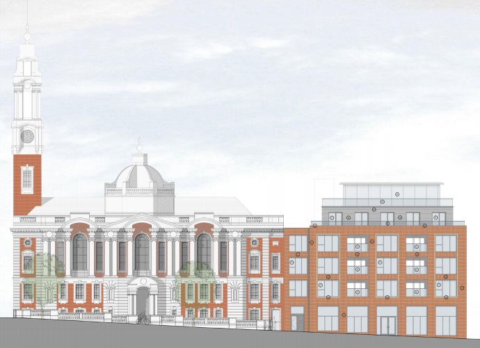 Developers propose raising height of housing block by Woolwich Town Hall