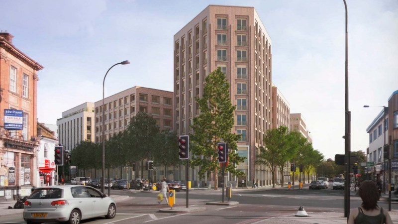 Lee Gate regeneration scheme re-submitted: 393 flats & shops