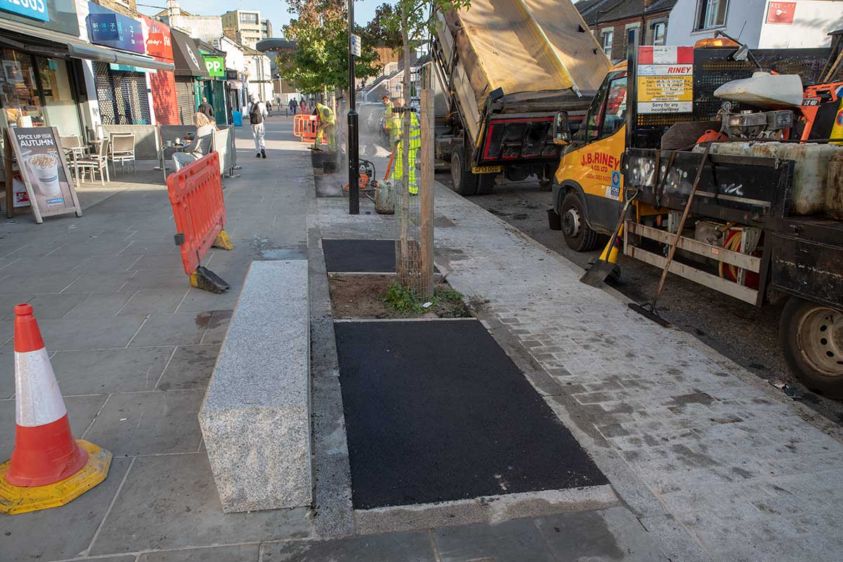 Greenwich Council stick down tarmac on recent £300,000 street upgrade
