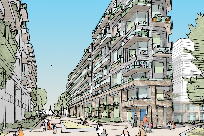 Are parts of Greenwich Borough to be covered in slab-like housing blocks?