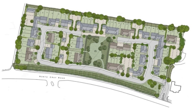 Plans for 67 new homes on green belt land in Sidcup